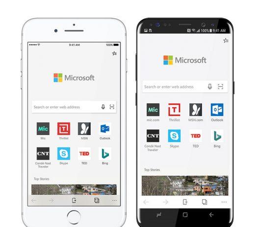 سرچ تصویری جدید مایکروسافت Edge روی iOS