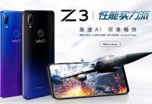 Vivo Z3 اسمارتفونی با دو پردازنده Snapdragon 670 و 710
