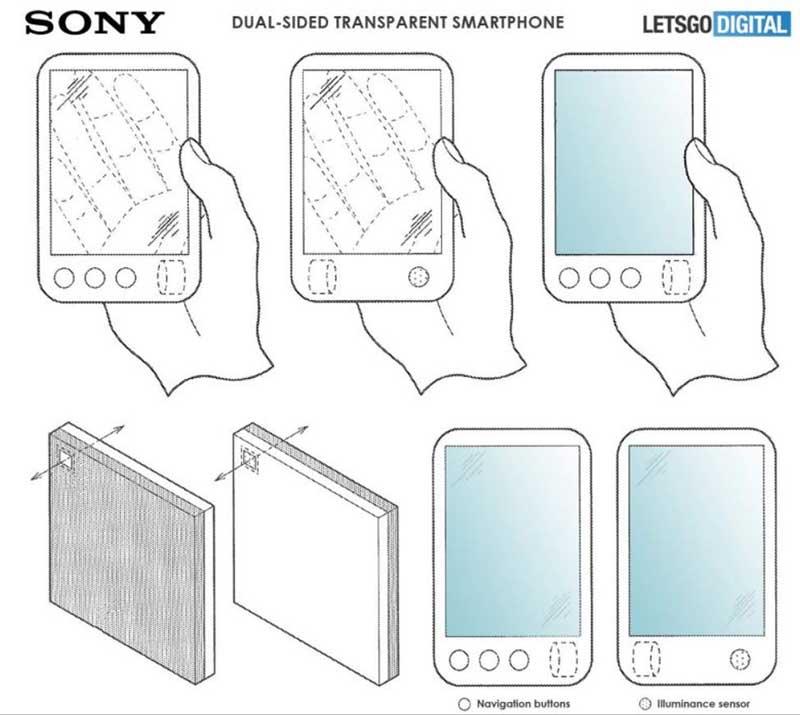 گوشی تاشوی سونی با طراحی شفاف؟
