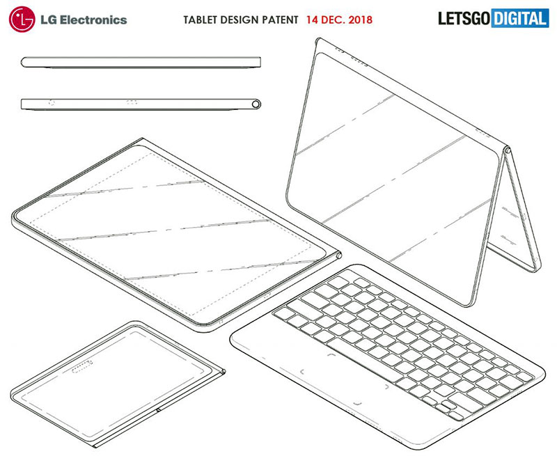 تبلت LG با طراحی بدون حاشیه و کیبورد وایرلس جداشدنی؟