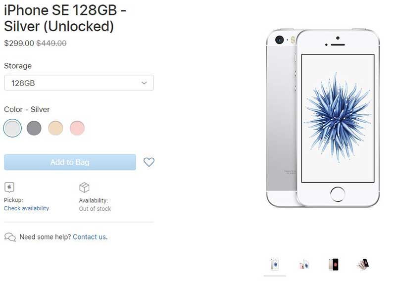 اپل دوباره آیفون SE میفروشد فقط 249 دلار!