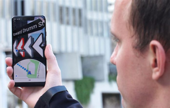 مسیریابی گوگل Maps AR به صورت محدود عرضه شد!