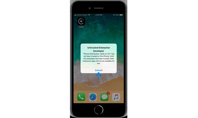 حل مشکل اپلیکیشن تپسی برای iOS با PWA