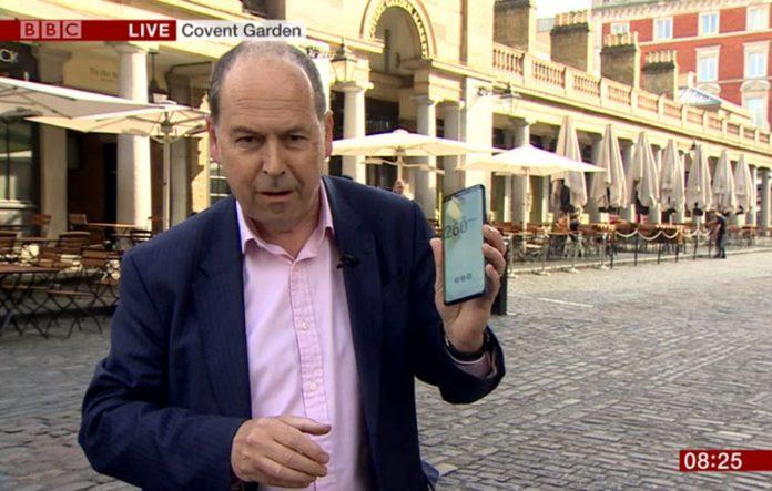 تمام شدن دیتای موبایل خبرنگار BBC روی شبکه 5G