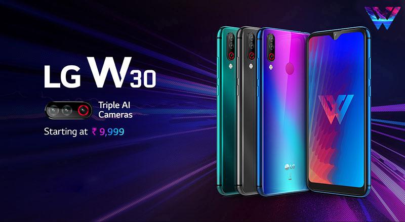 LG W30 ،W10 و W30 Pro، سهگانه الجی برای بازار هند