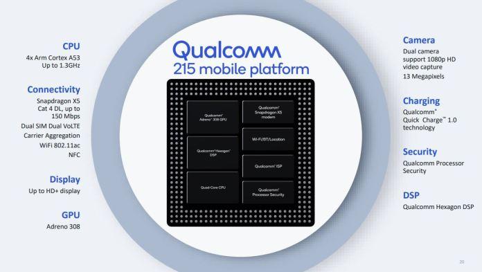 Snapdragon 215 پروسسور جدید کوالکام برای ارزانقیمتها