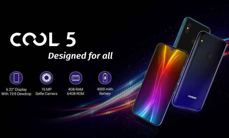 Coolpad Cool 5 موبایل 6.22 اینچی 110 دلاری