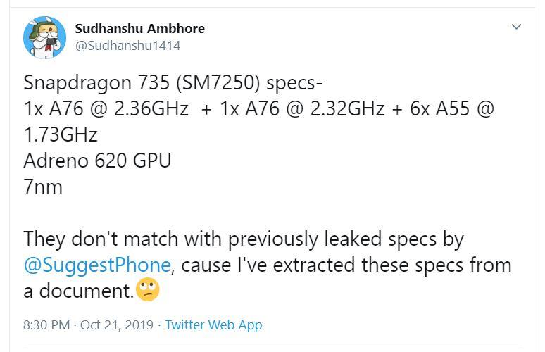 اسنپدراگون 735 با لیتوگرافی 7 نانومتری در راه است