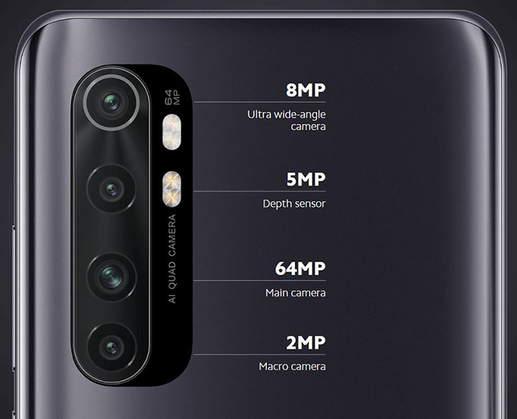 Mi Note 10 Lite همزاد خانواده Note 10 با دوربین 64MP