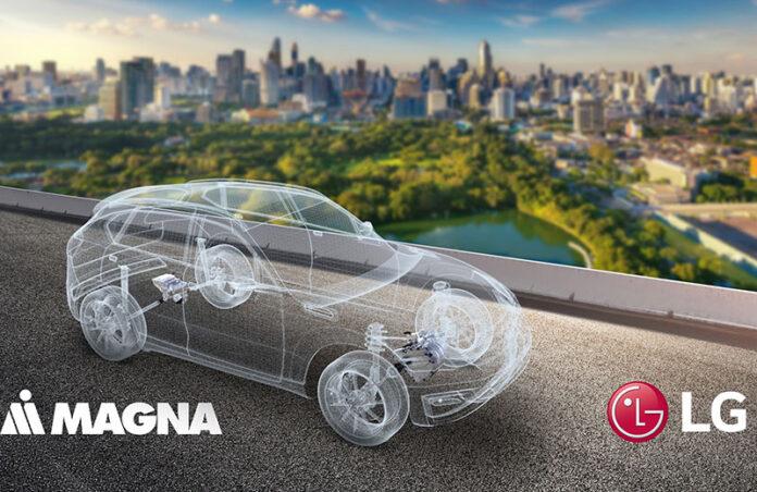 همکاری الجی و MAGNA برای توسعه بازار پیشرانه الکتریکی